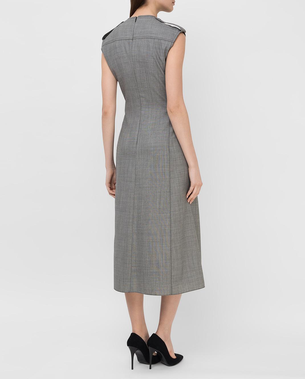 Victoria Beckham Серое платье из шерсти DRMID6602 изображение 4