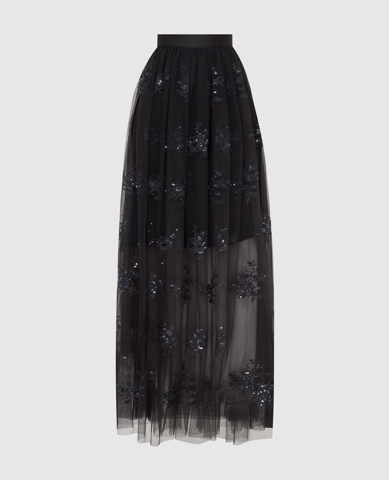 Темно-серая юбка