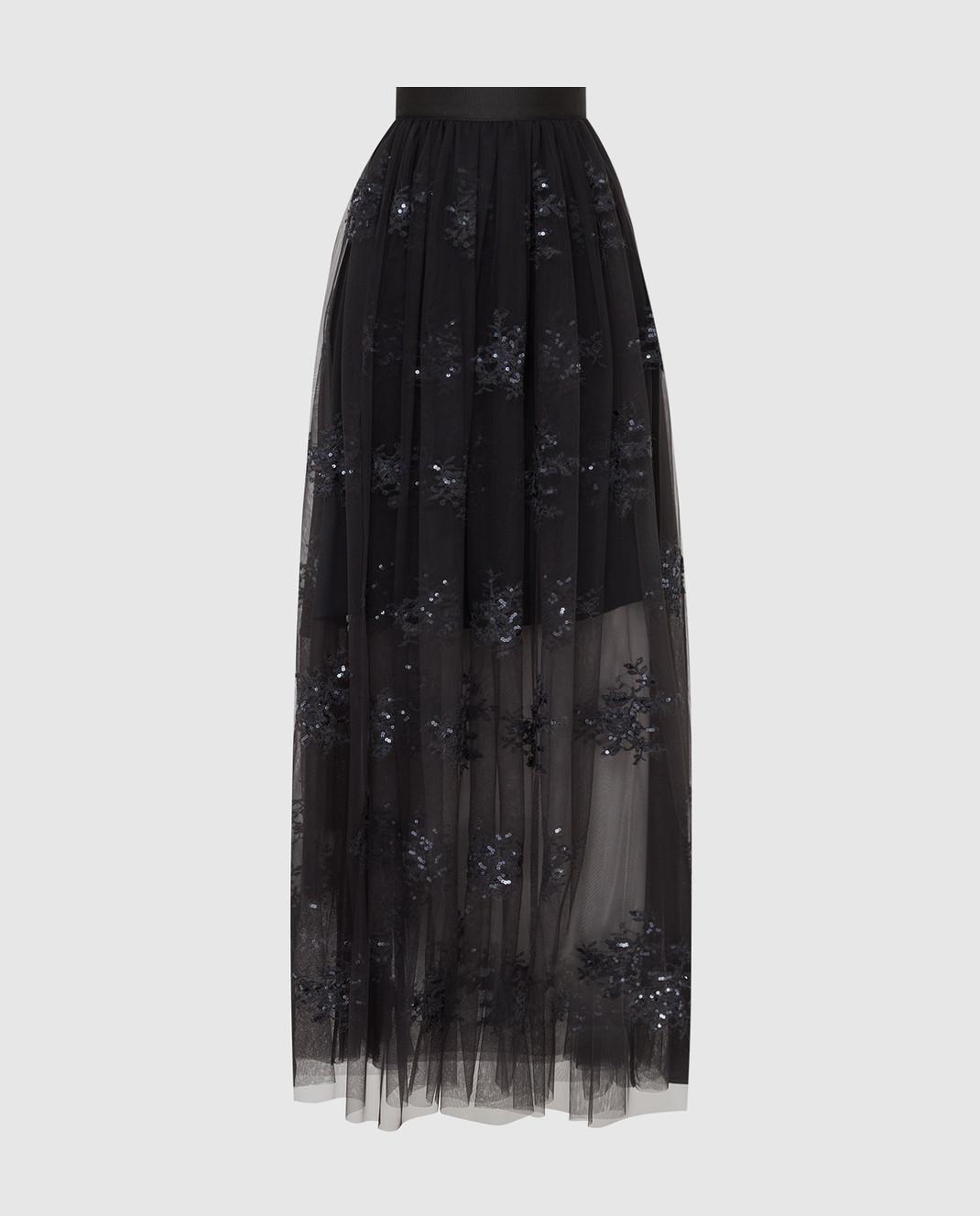 Brunello Cucinelli Темно-серая юбка MA960G2739
