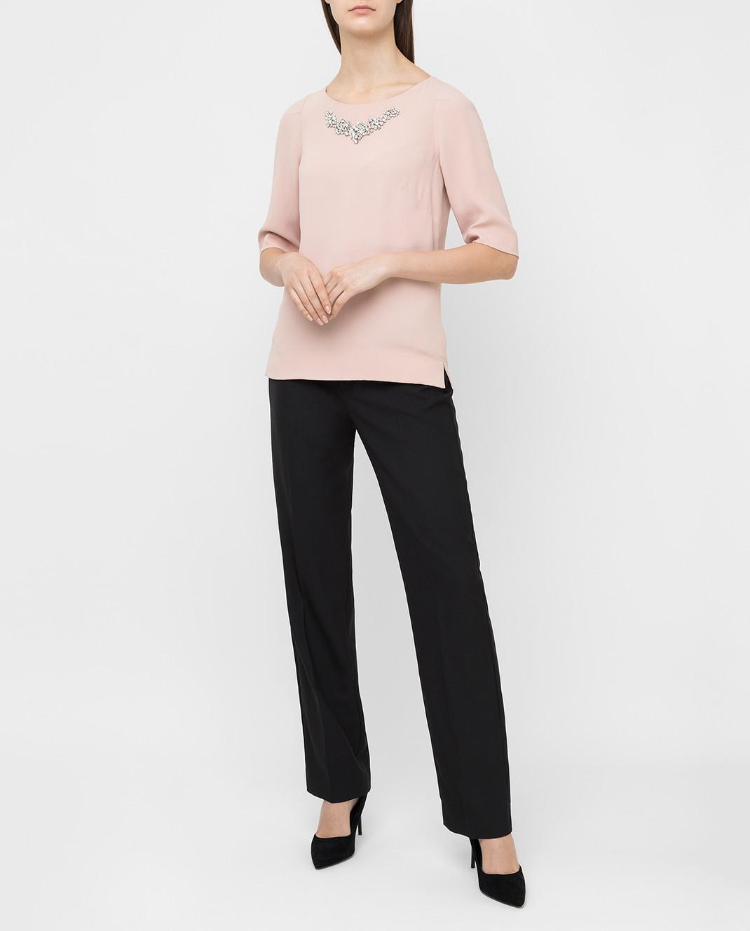 Jenny Packham Пудровая блуза с кристаллами WT104 изображение 2