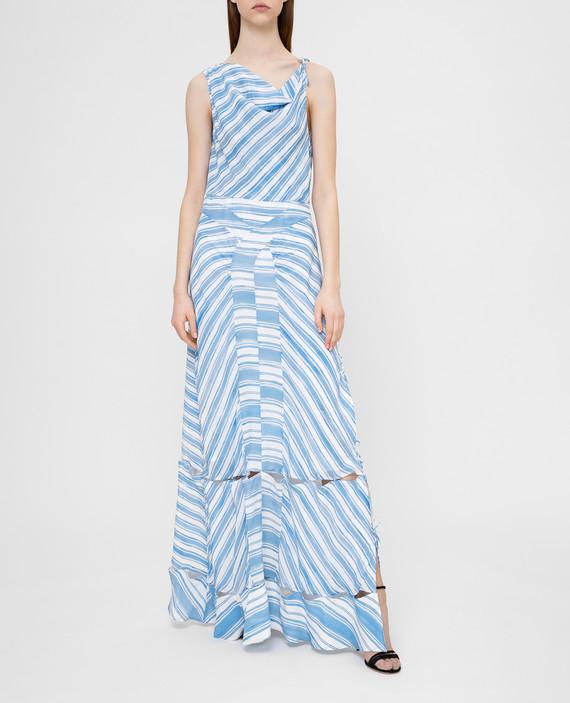 Голубое платье из шелка hover