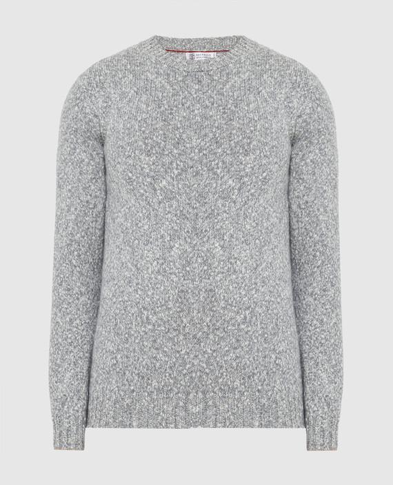 Серый свитер из шерсти и кашемира