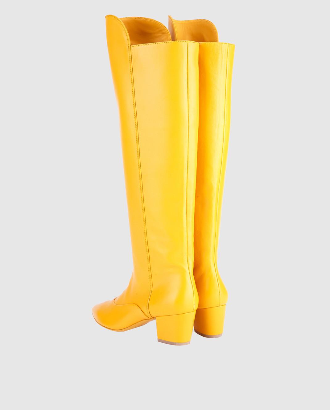 Laurence Dacade Желтые кожаные сапоги SANDRINE изображение 3