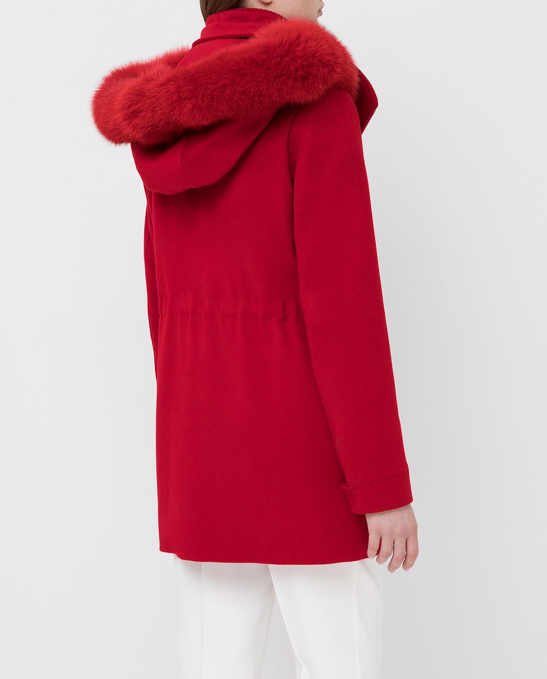 Heresis Красное пальто из шерсти P1080VO изображение 4