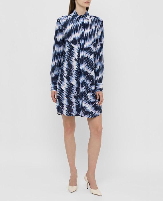 Темно-синее платье из шелка hover