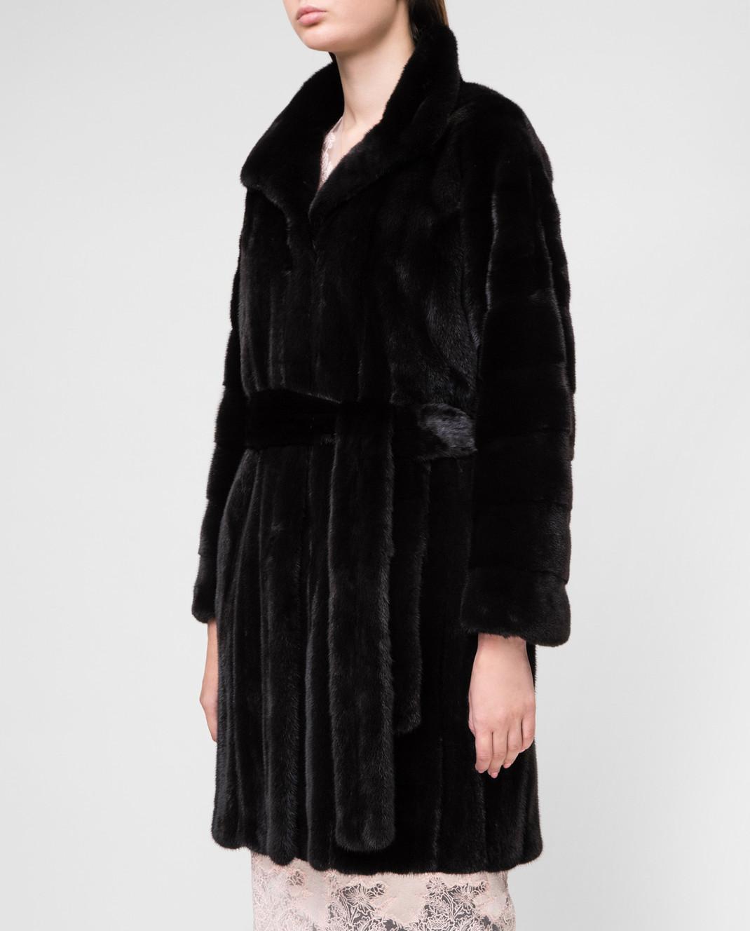 Real Furs House Черное меховое пальто TB5253842 изображение 3