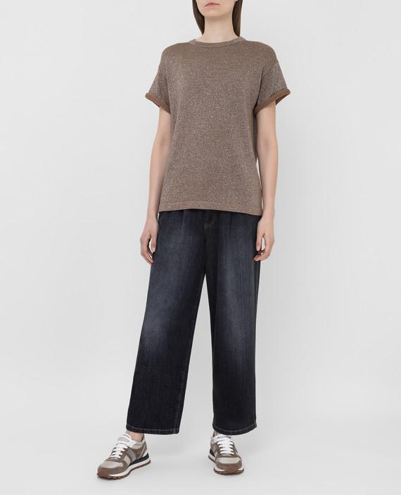Темно-серые джинсы hover