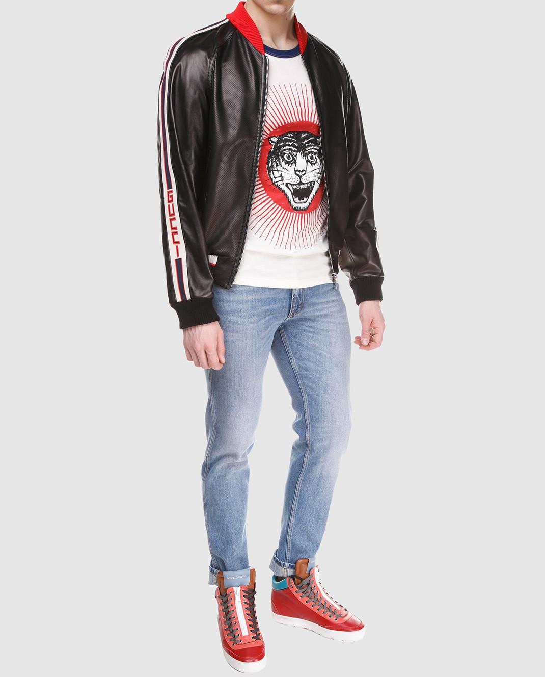 Gucci Коричневый кожаный бомбер 501174 изображение 2