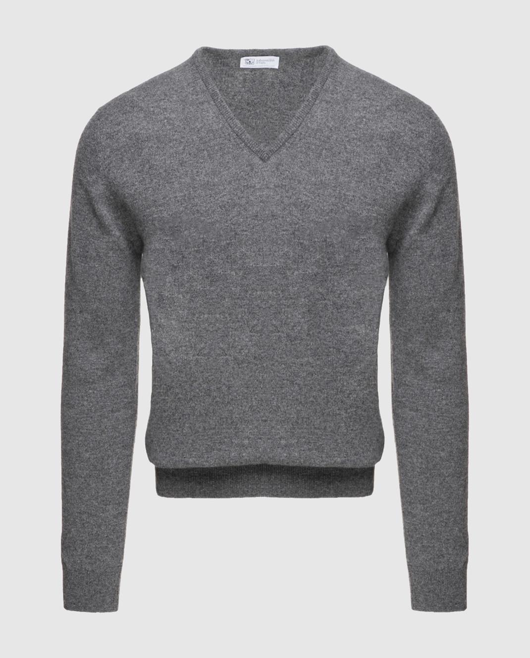 Johnstons Серый пуловер из кашемира KAL03406