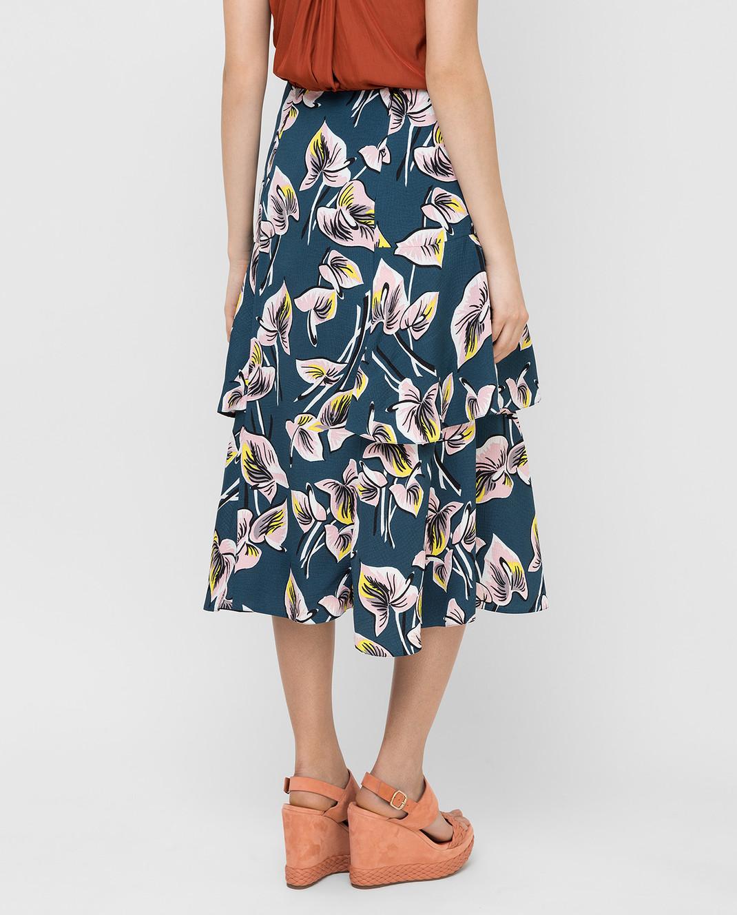 Marni Темно-бирюзовая юбка GOMAT39U00TV456 изображение 4