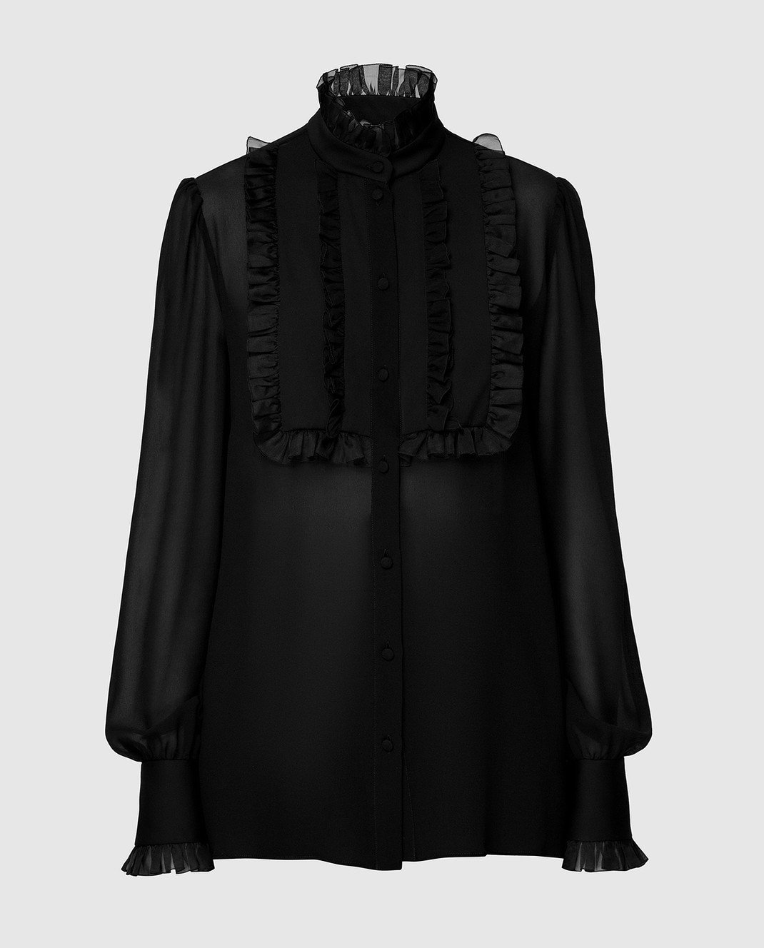 Dolce&Gabbana Черная блуза F5K14TFU1AR
