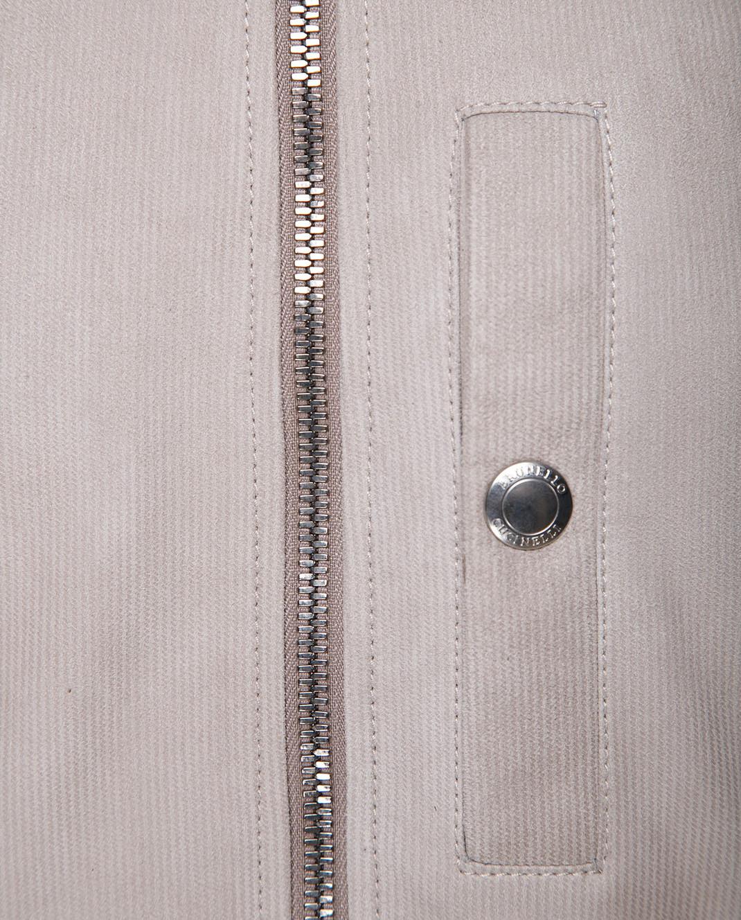 Brunello Cucinelli Бежевый замшевый жилет MPCHS1244 изображение 5