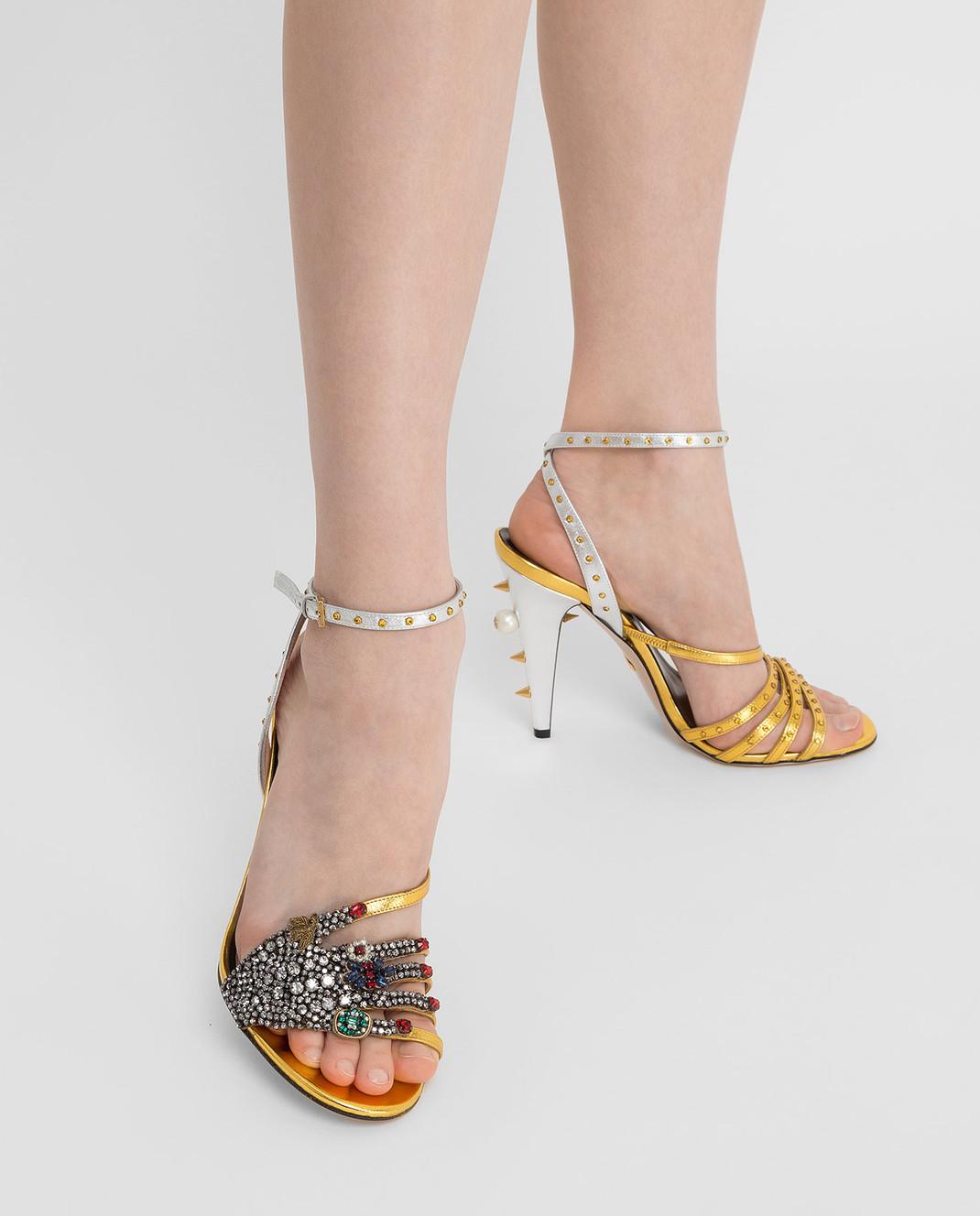 Gucci Босоножки с кристаллами 452770 изображение 2