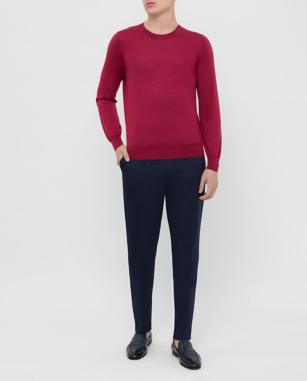 Brunello Cucinelli Темно-синие брюки с карманами M289LT1150 изображение 2