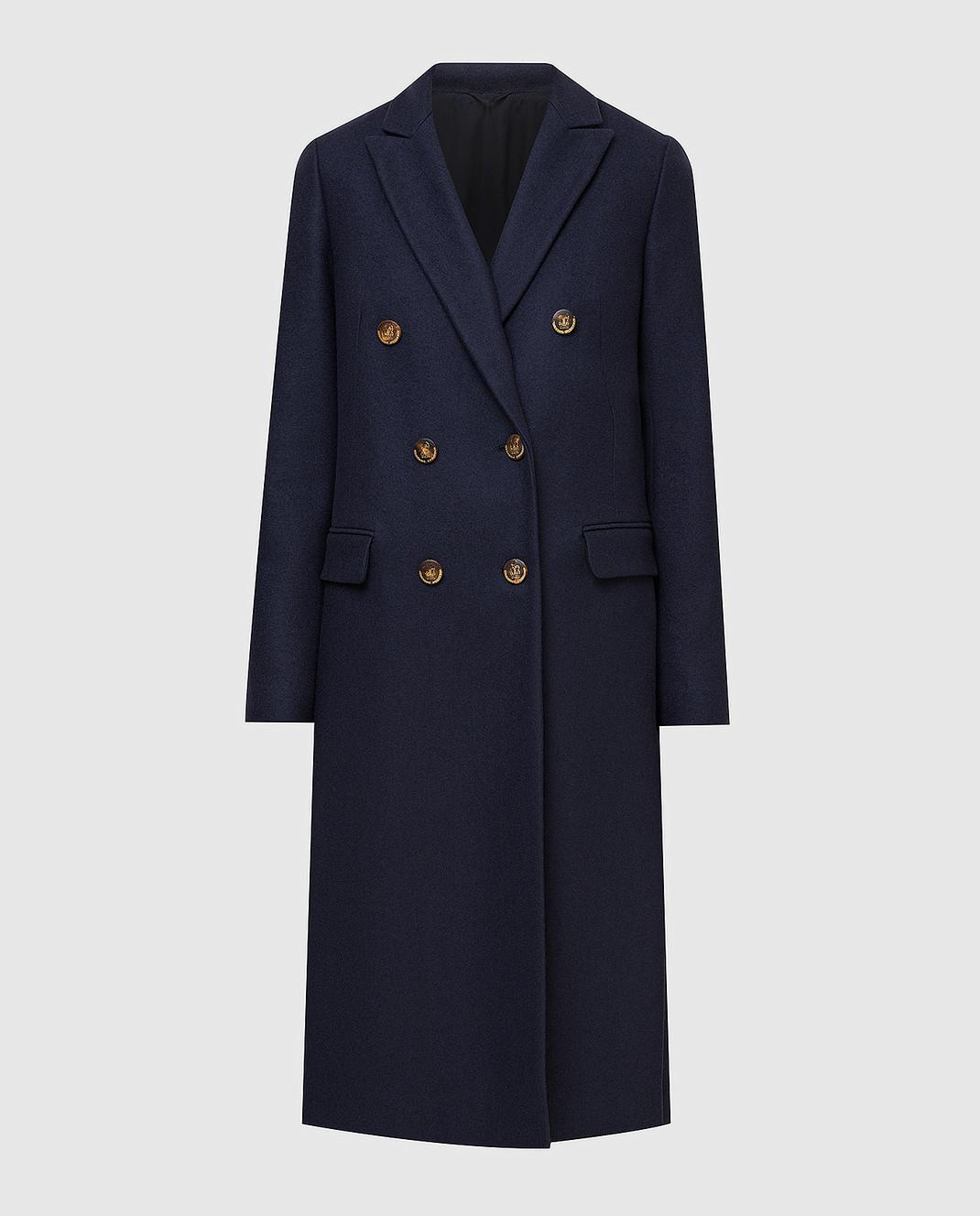 Brunello Cucinelli Темно-синее пальто из кашемира MA5324963