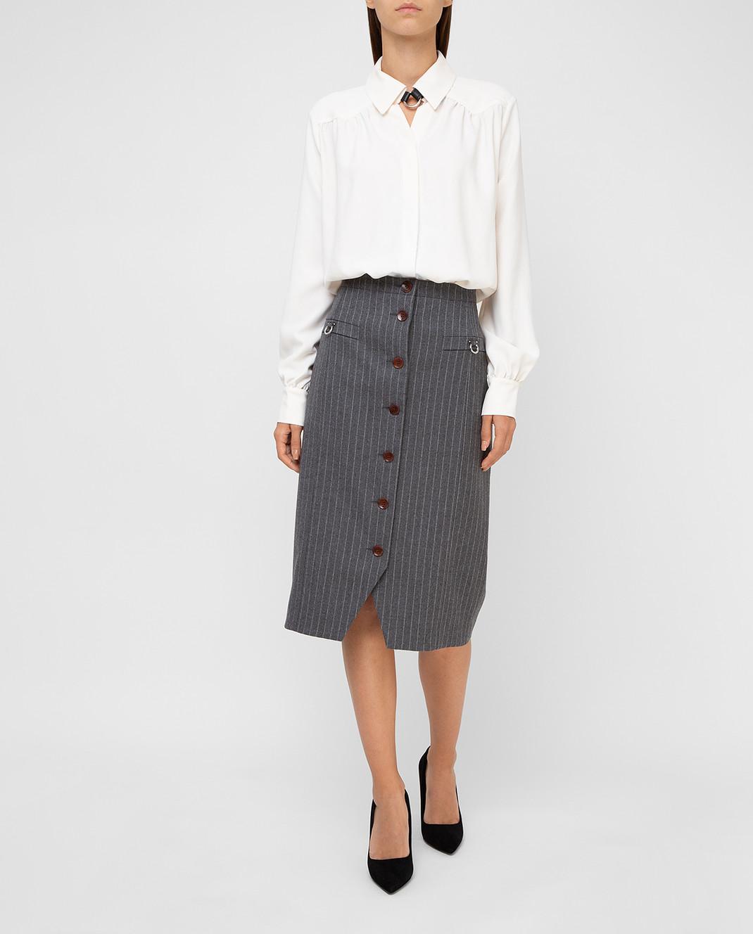Altuzarra Светло-бежевая блуза изображение 2