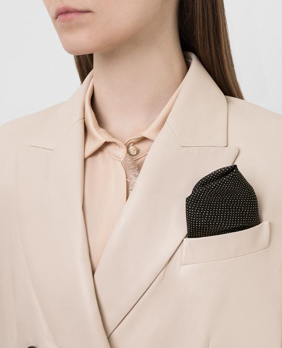 Черный платок из шелка hover