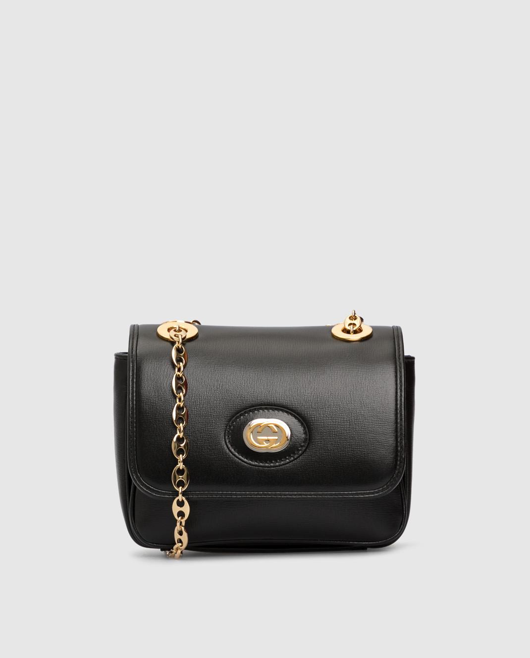 Gucci Черная кожаная сумка изображение 1