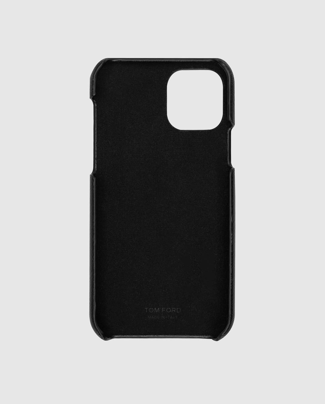 Tom Ford Черный кожаный чехол для iPhone 11 Pro изображение 2