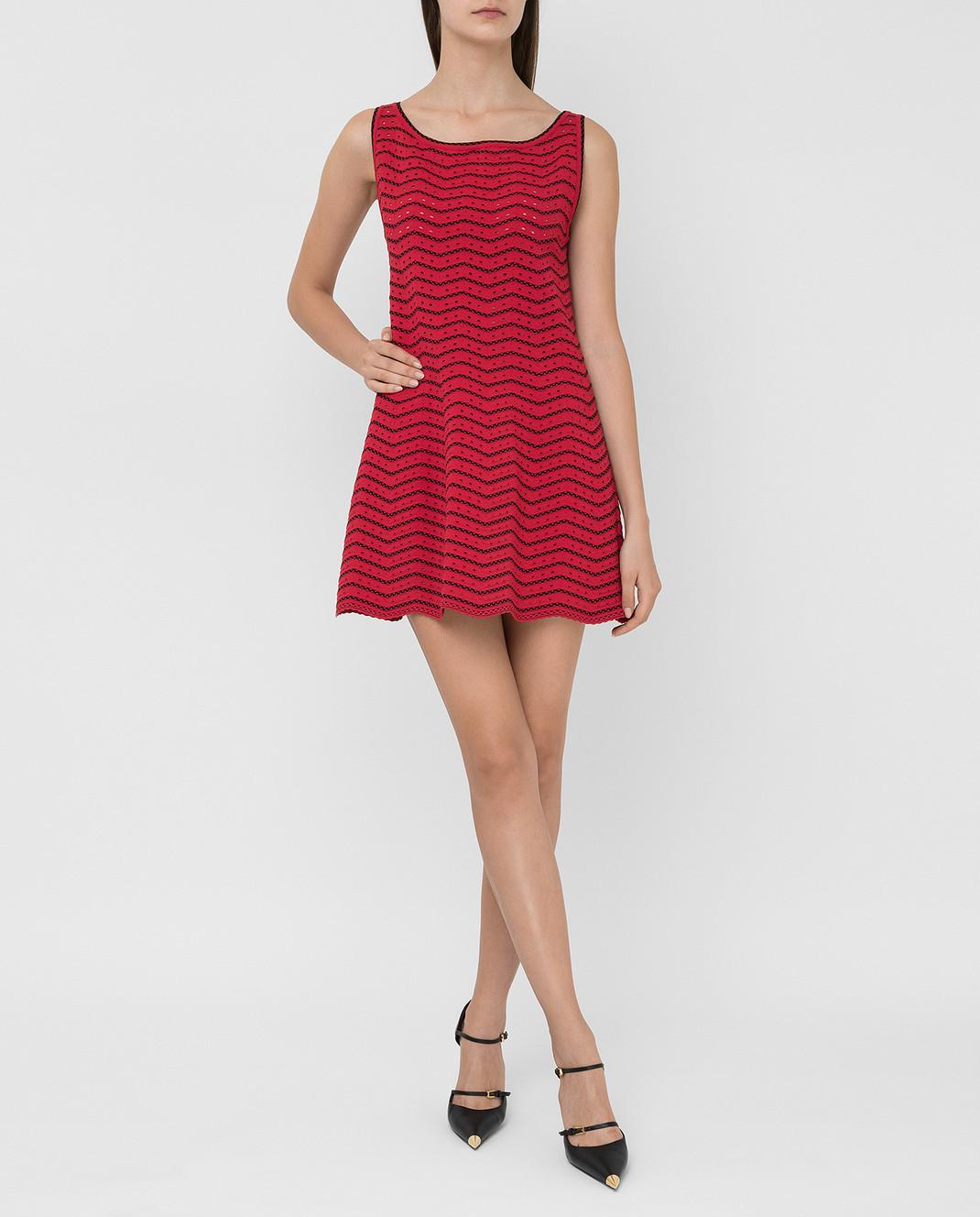 Azzedine Alaia Красное платье 6E9UC86RM224 изображение 2