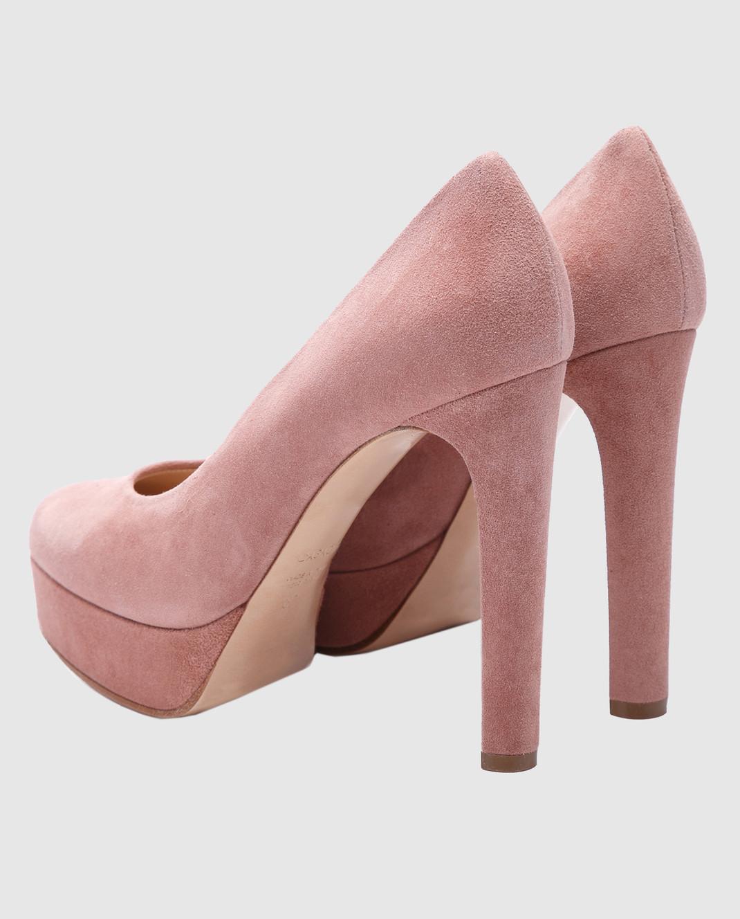 Casadei Пудровые замшевые туфли изображение 3