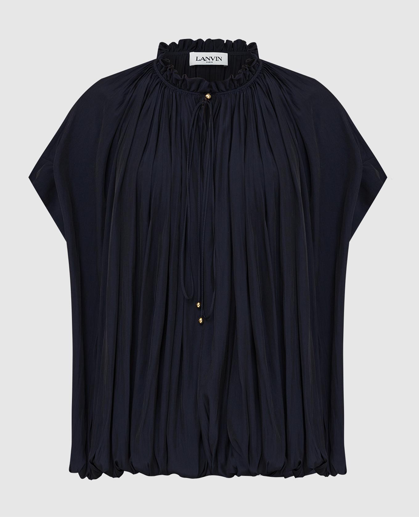 Темно-синяя блуза