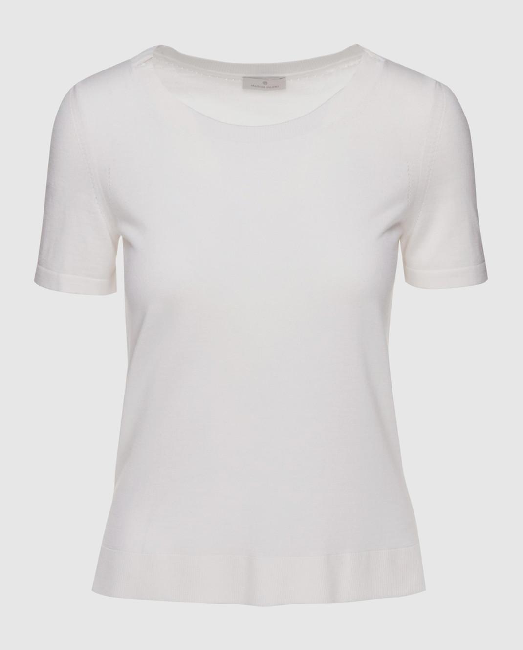 Maison Ullens Белый джемпер из кашемира и шелка TSS018