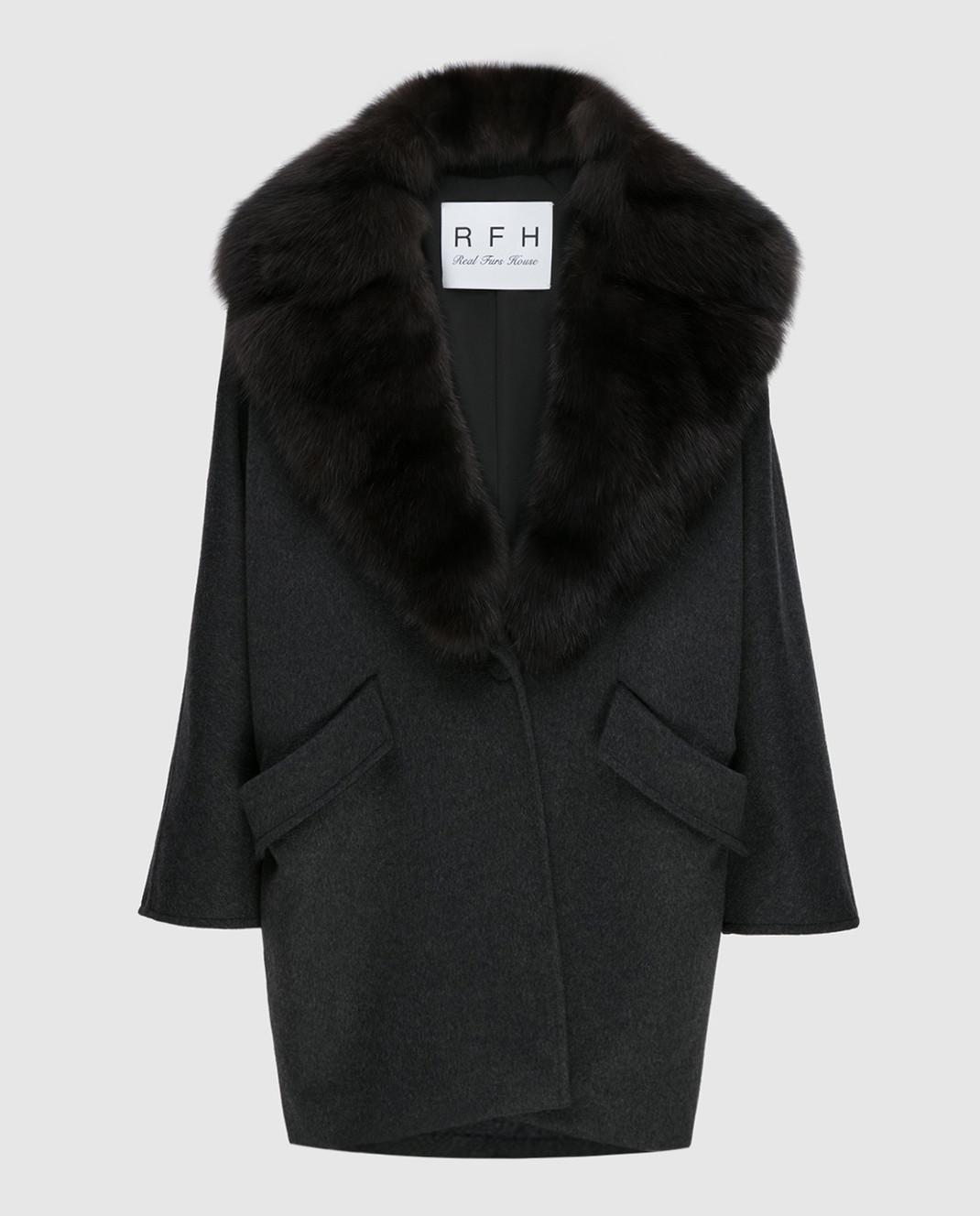 Real Furs House Черное пальто QSR433