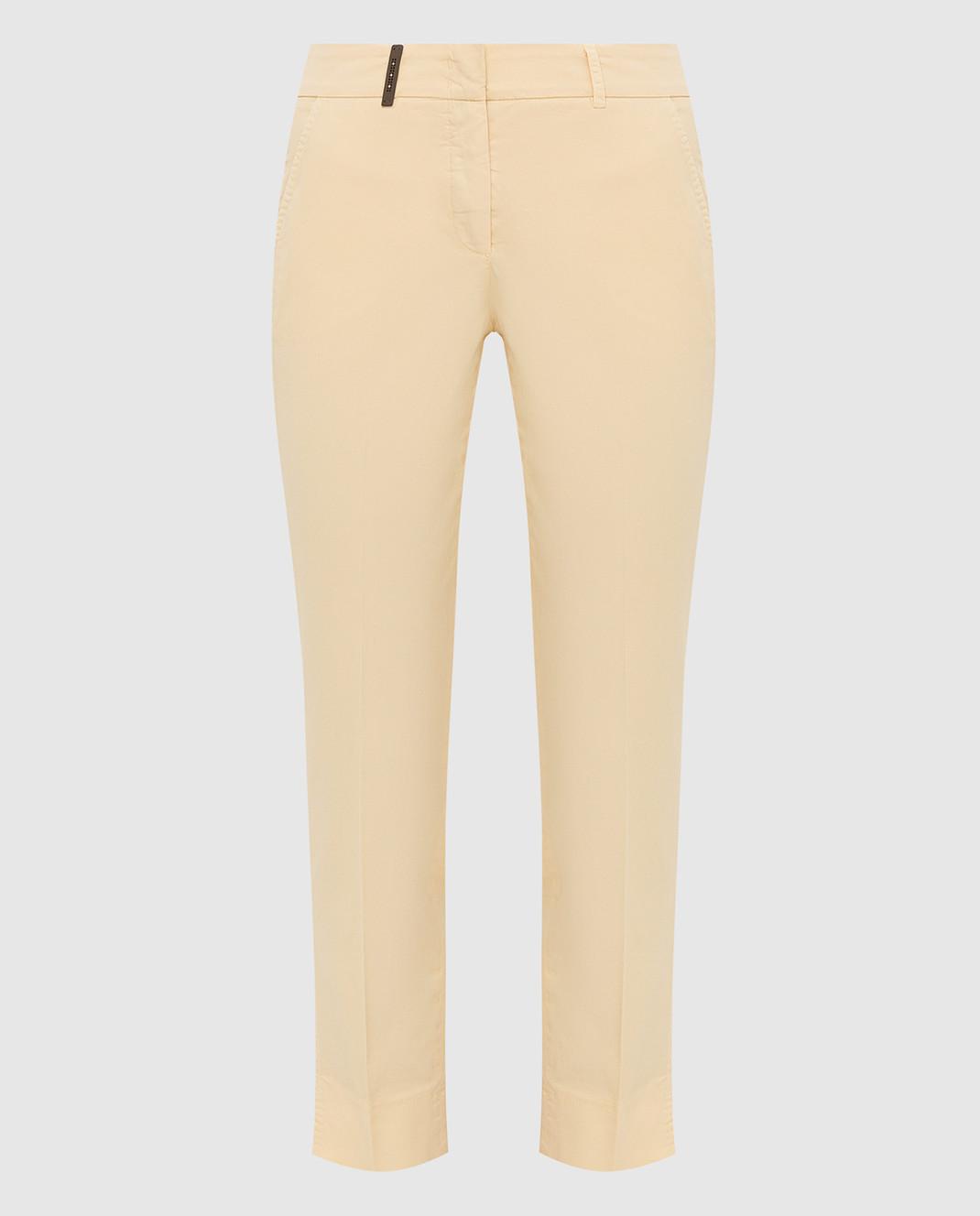 Peserico Светло-желтые брюки P04718T402477