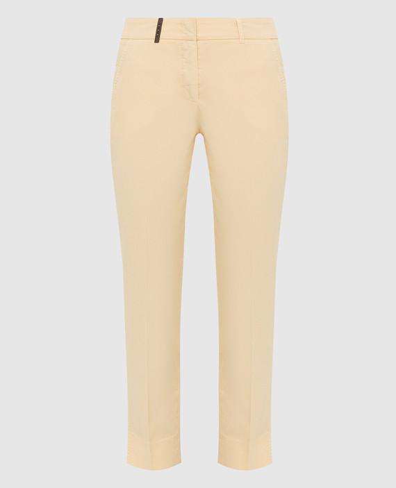 Светло-желтые брюки