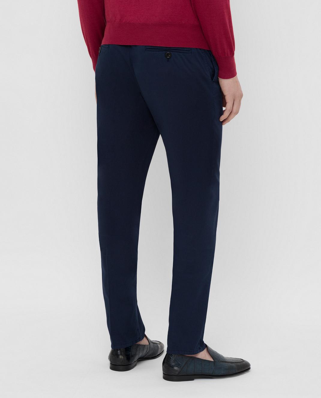 Brunello Cucinelli Темно-синие брюки с карманами M289LT1150 изображение 4