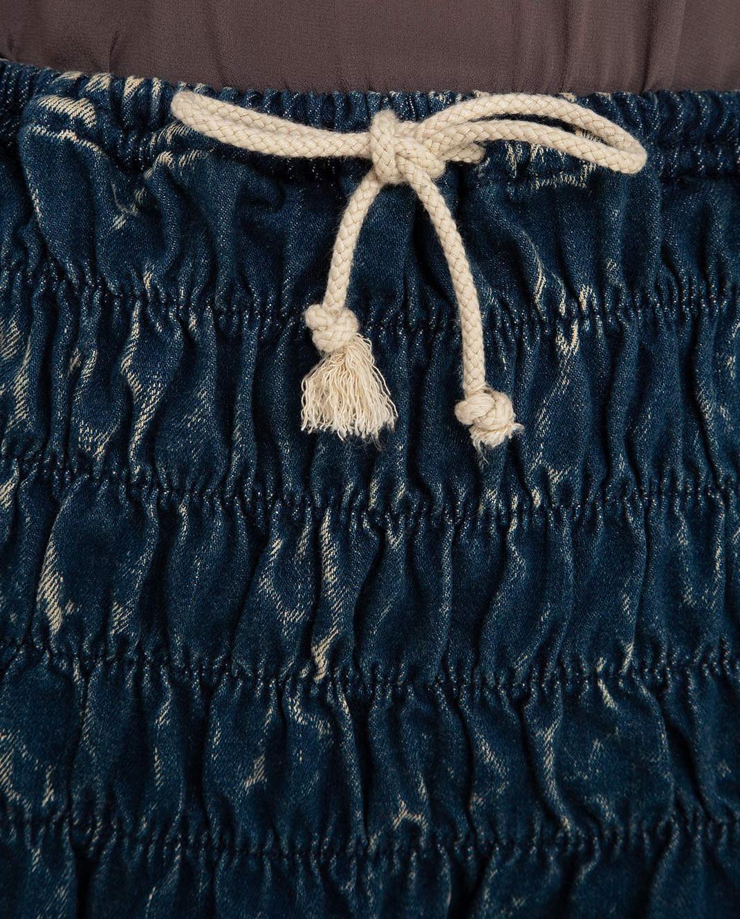 Chloe Темно-синяя джинсовая юбка 16EDJ02 изображение 5