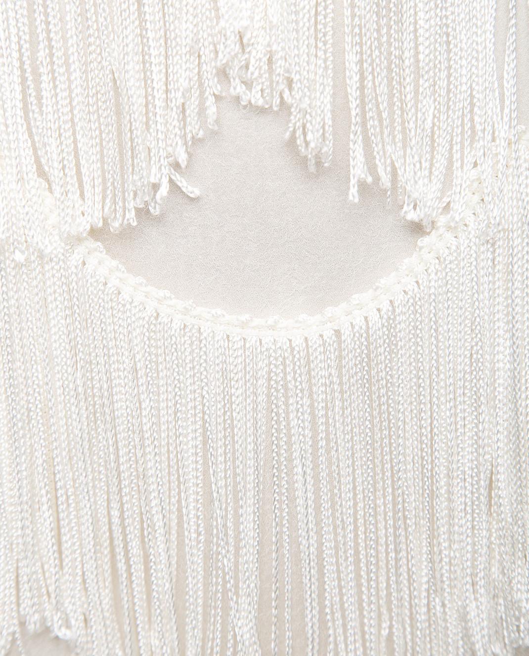 Marc Jacobs Бежевая юбка с бахромой изображение 5