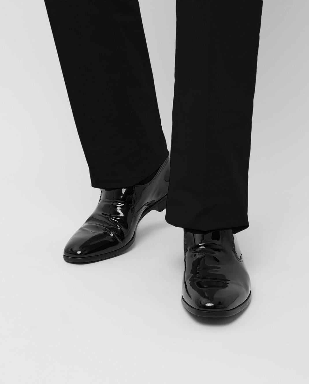 Prada Черные кожаные лоферы 2DC129 изображение 2