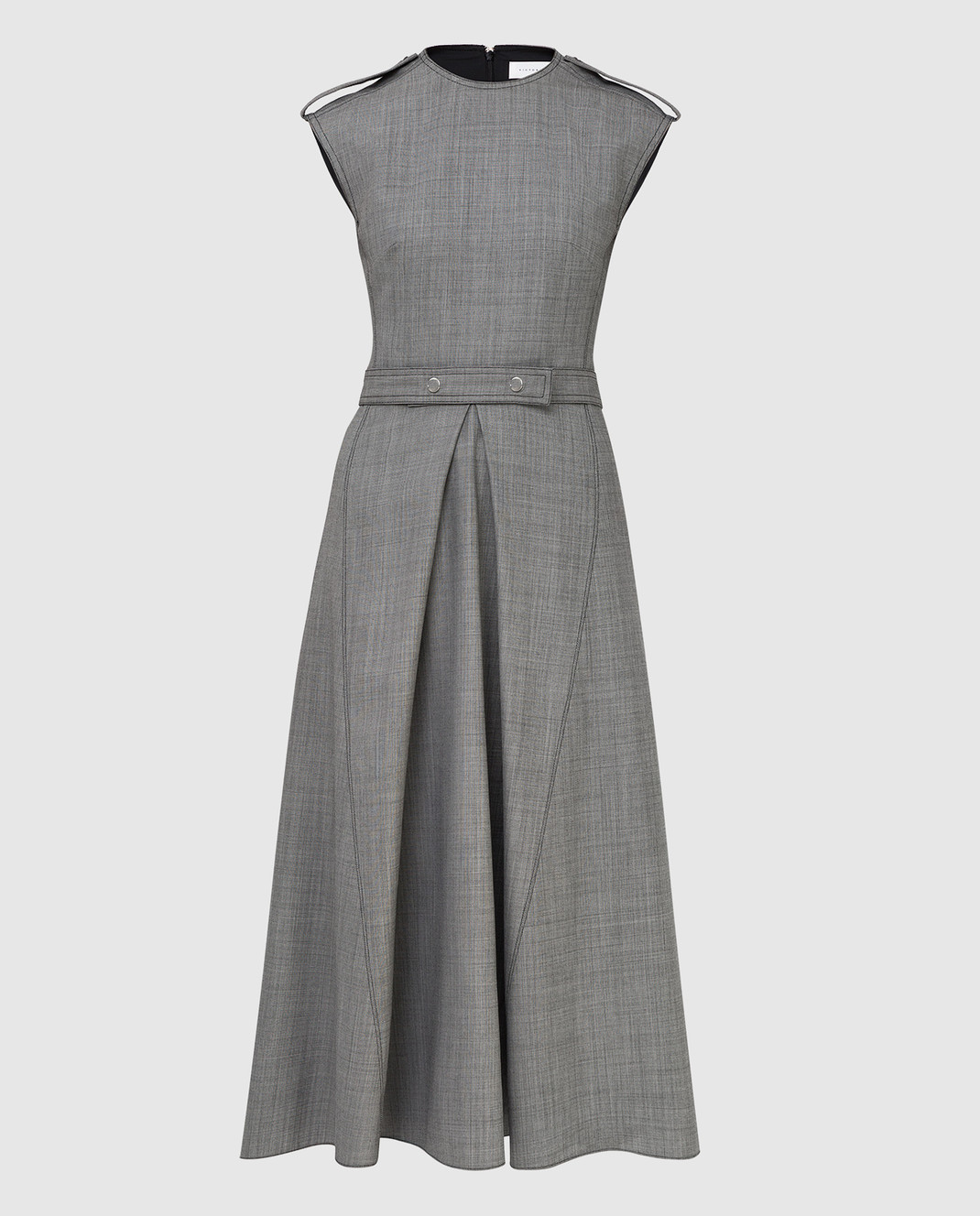 Victoria Beckham Серое платье из шерсти DRMID6602