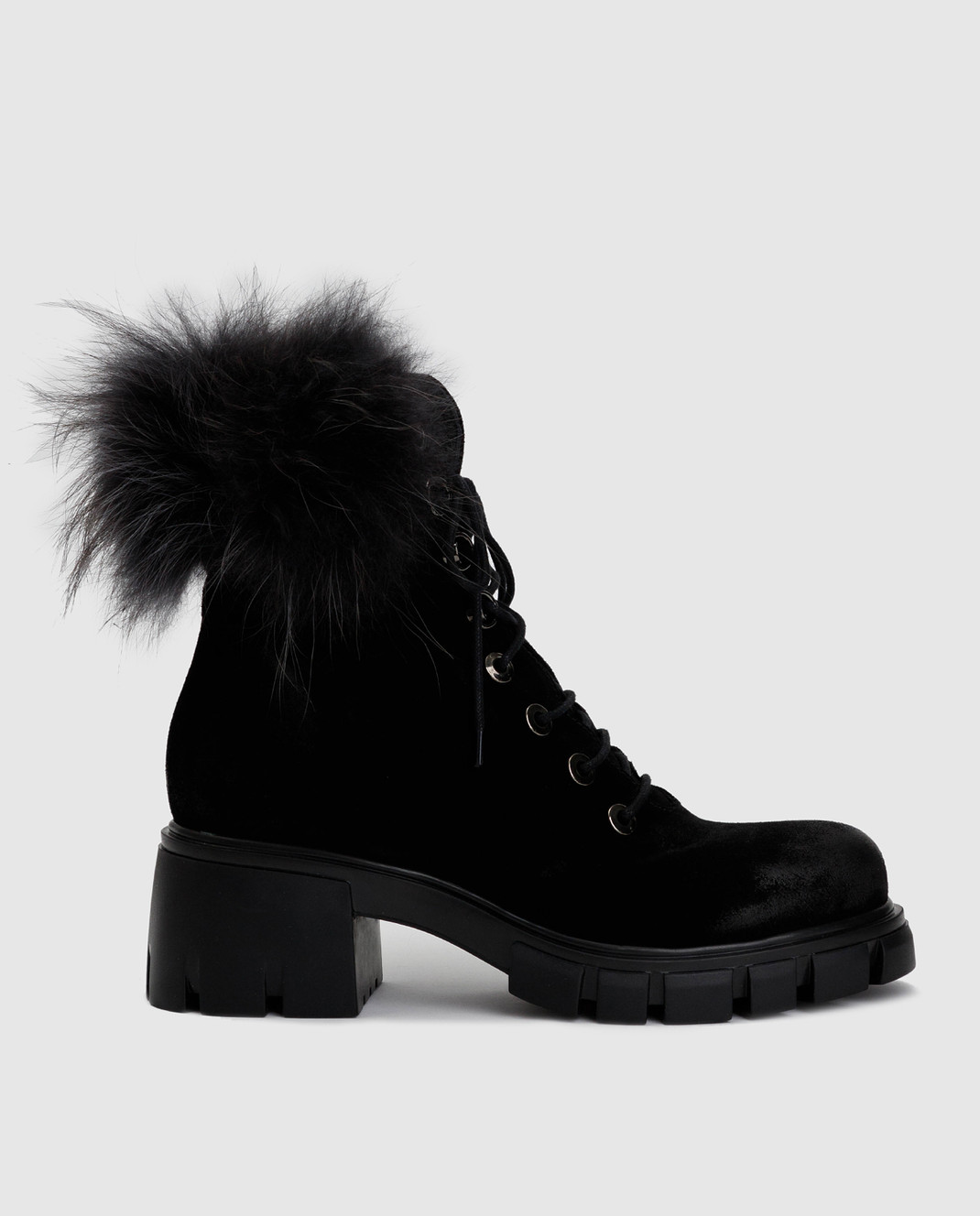 Fru it Черные замшевые ботинки 5125M