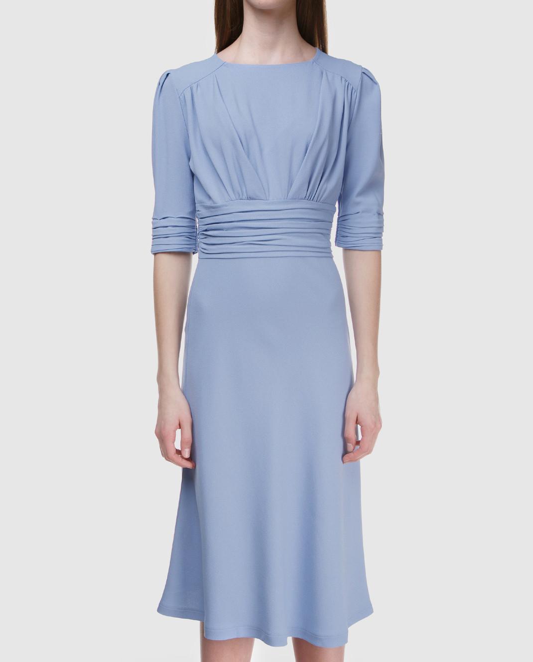 Ermanno Scervino Голубое платье D322Q313LHU изображение 3