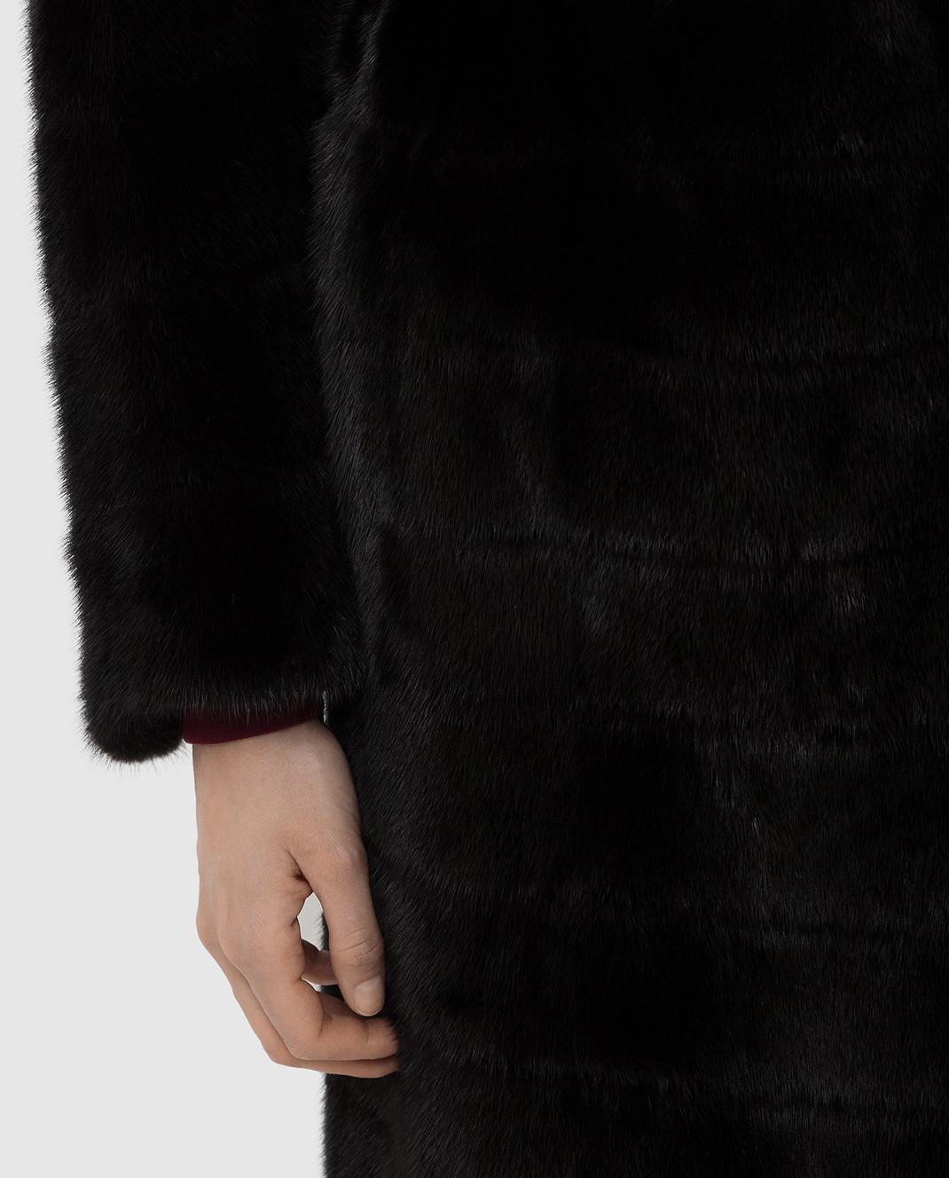 Rindi Черная шуба из меха норки 145VFLR4 изображение 5