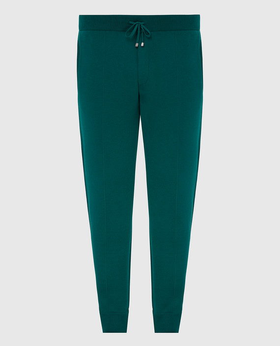 Зеленые спортивные брюки