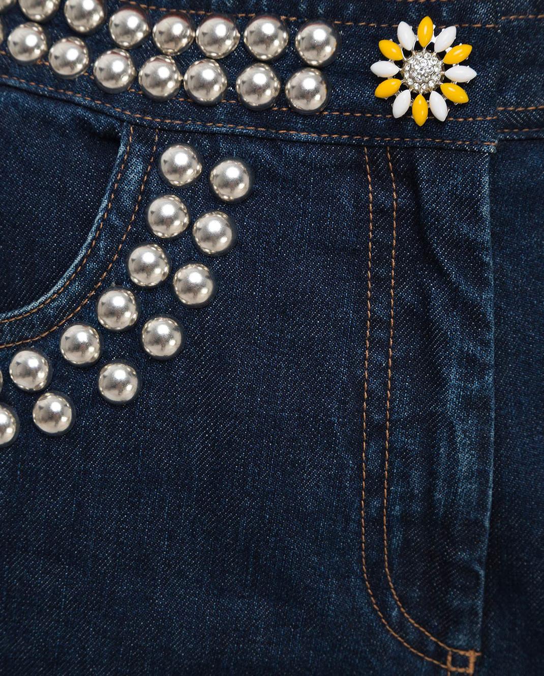 Miu Miu Темно-синие джинсы GWP192 изображение 5