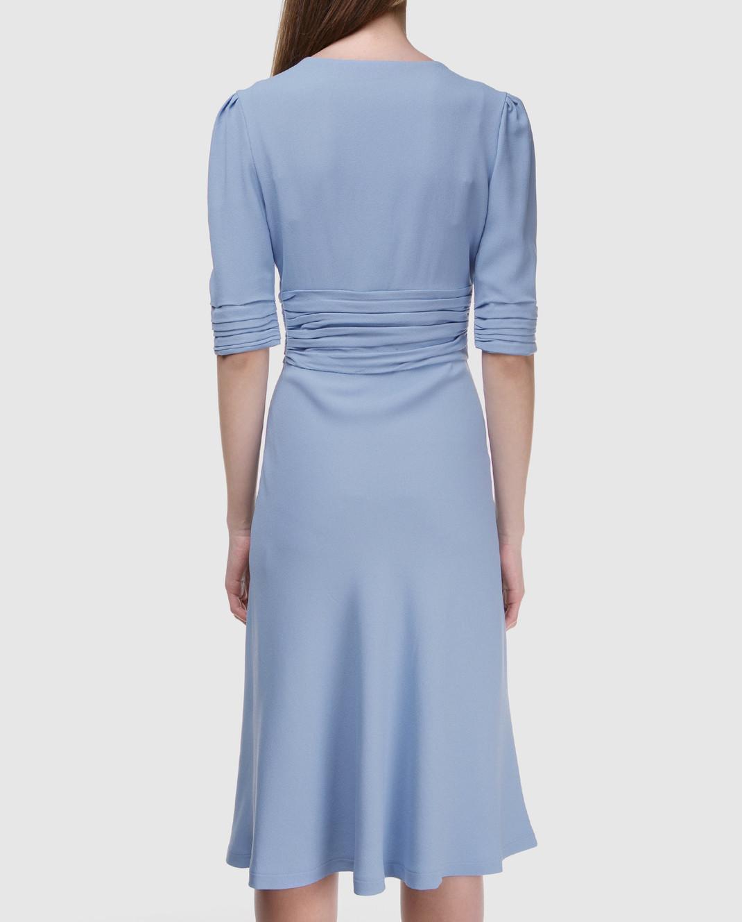 Ermanno Scervino Голубое платье D322Q313LHU изображение 4