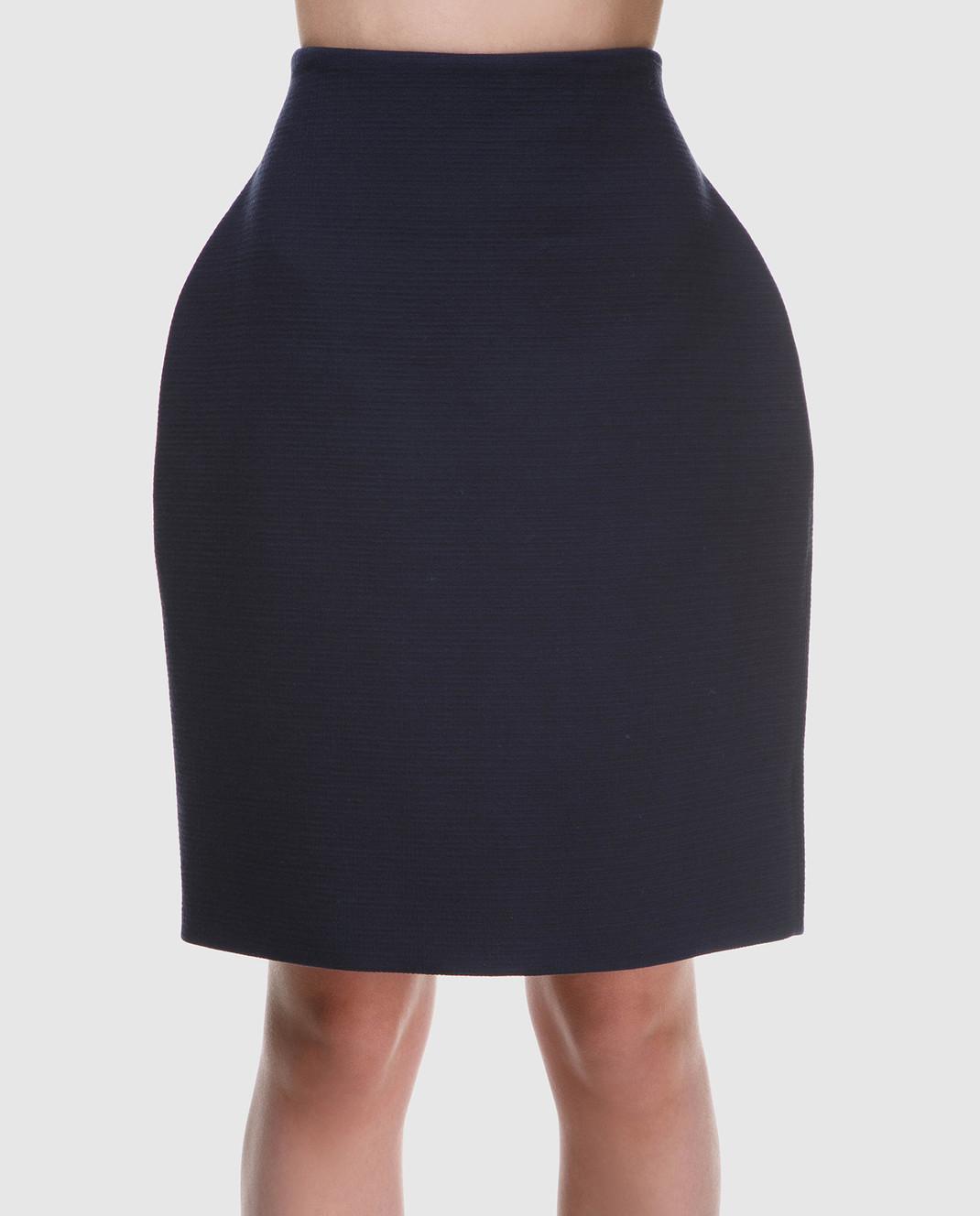 NINA RICCI Темно-синяя юбка 18PCJU002C00864 изображение 3
