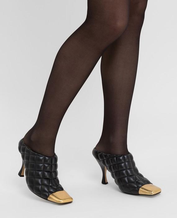 Черные кожаные мюли hover