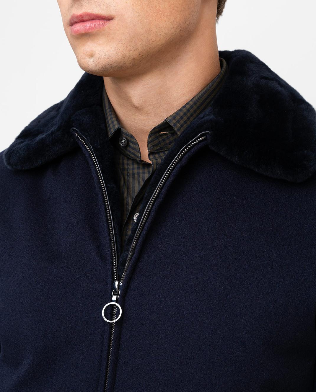 Seraphin Темно-синяя куртка из кашемира 22600H9FE9600 изображение 5