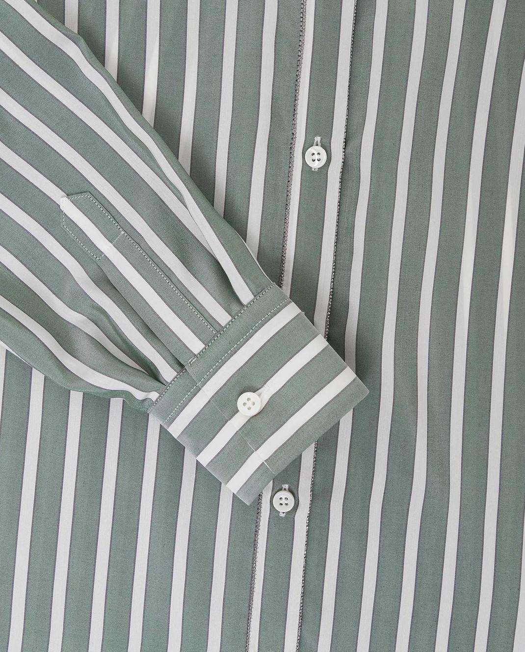 Детская зеленая блуза из шелка Brunello Cucinelli BB729MV146 — Symbol