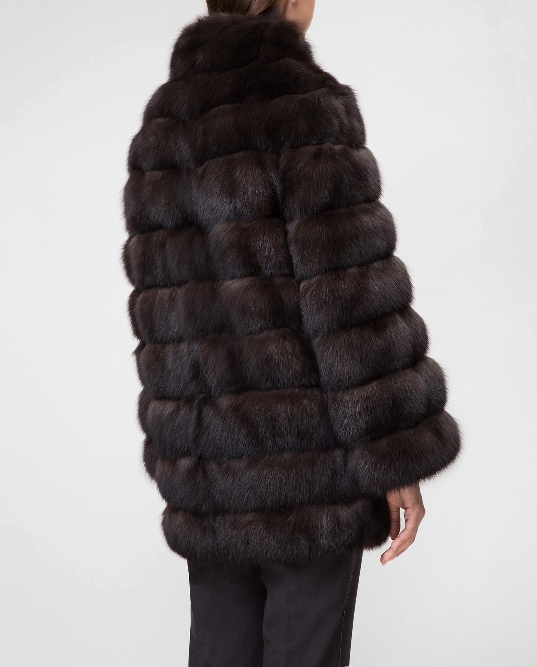 Real Furs House Черное меховое пальто SBR29548DARK изображение 4