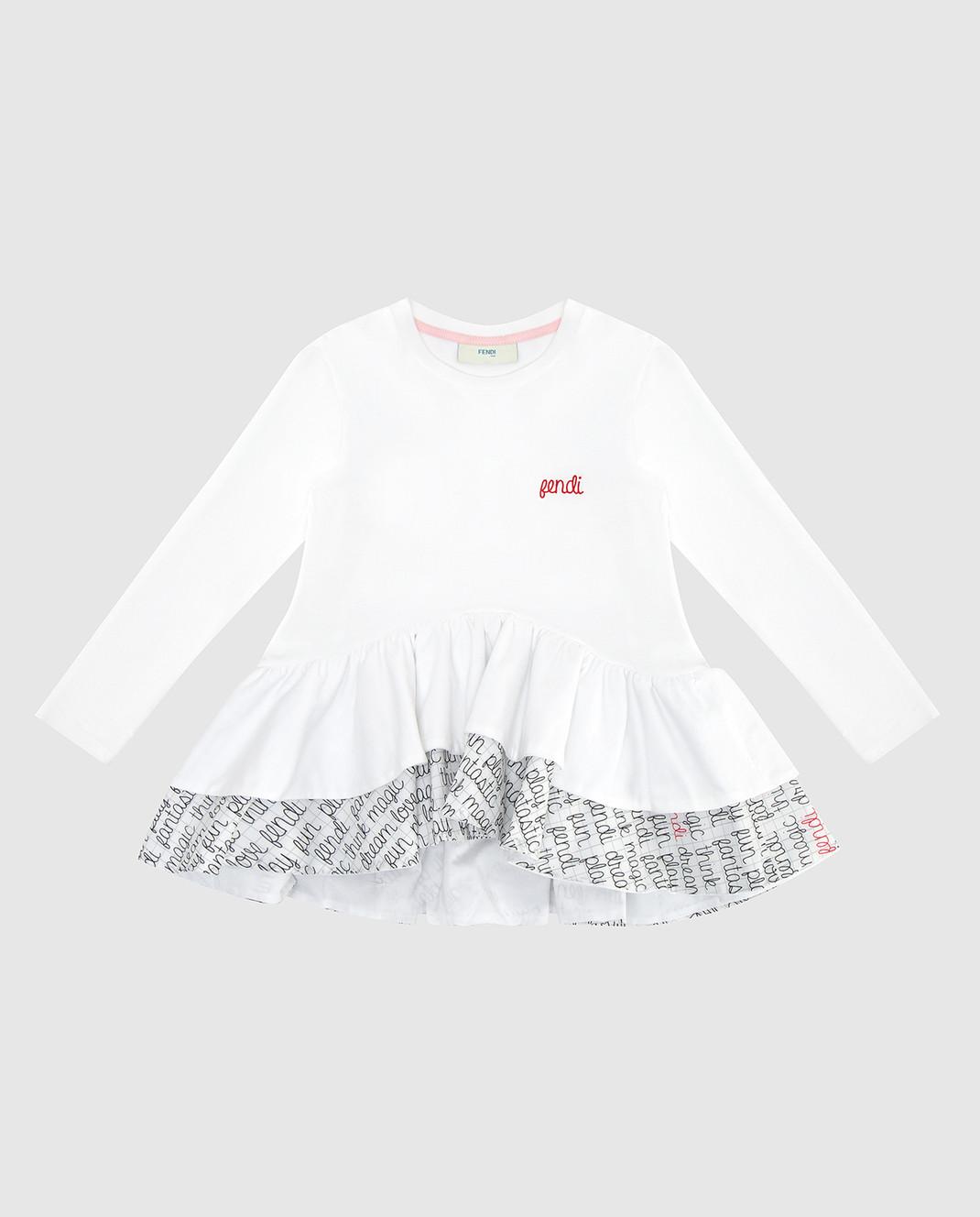 Fendi Детский белый лонгслив JFI11569