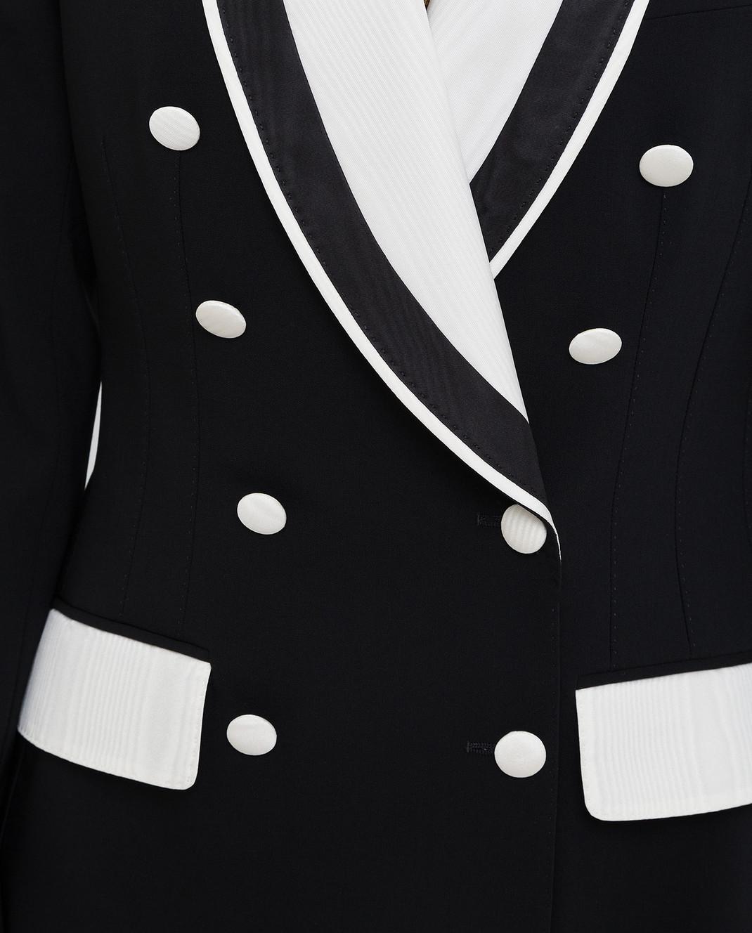 Dolce&Gabbana Черный жакет из шерсти изображение 5