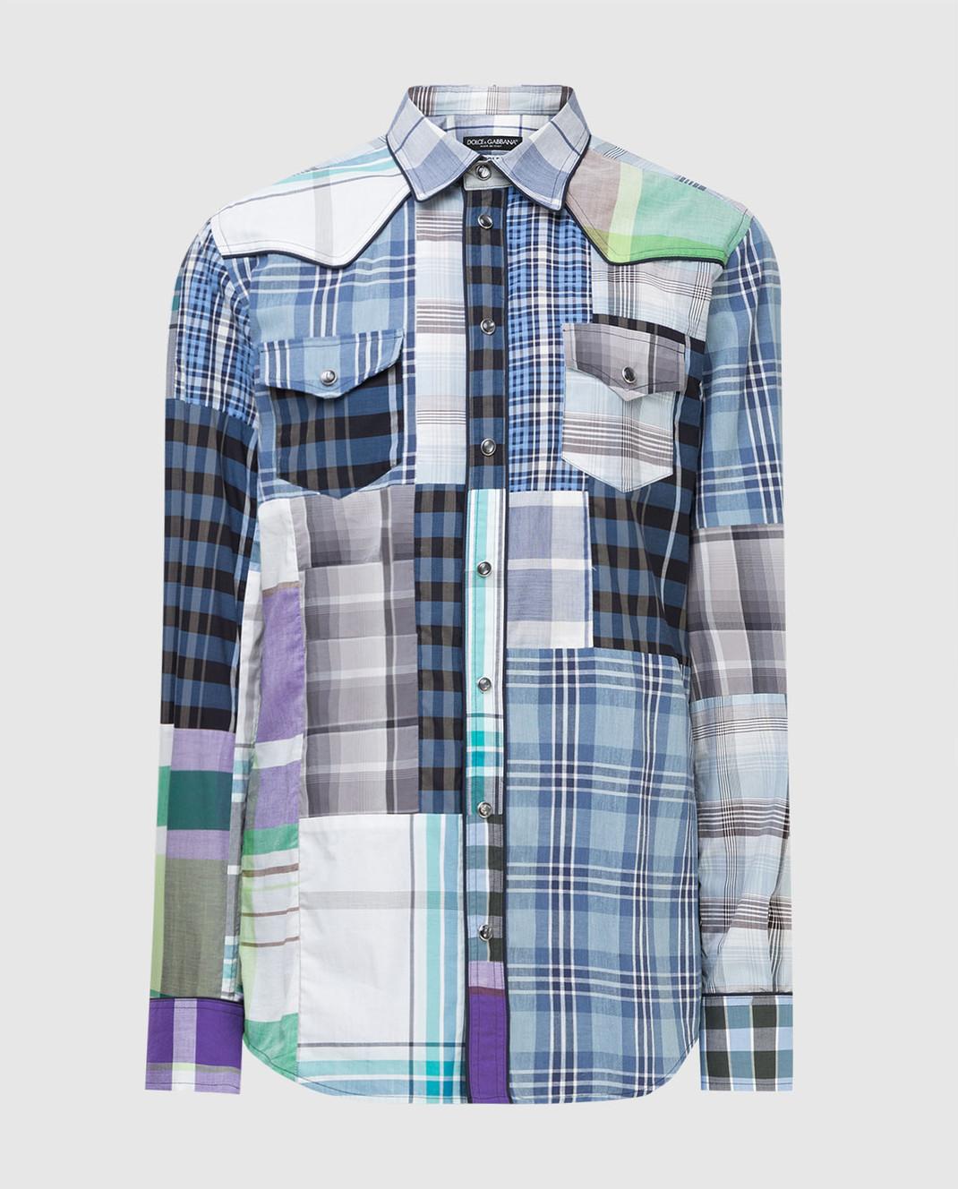 Dolce&Gabbana Синяя рубашка G5CS8TG9Y16