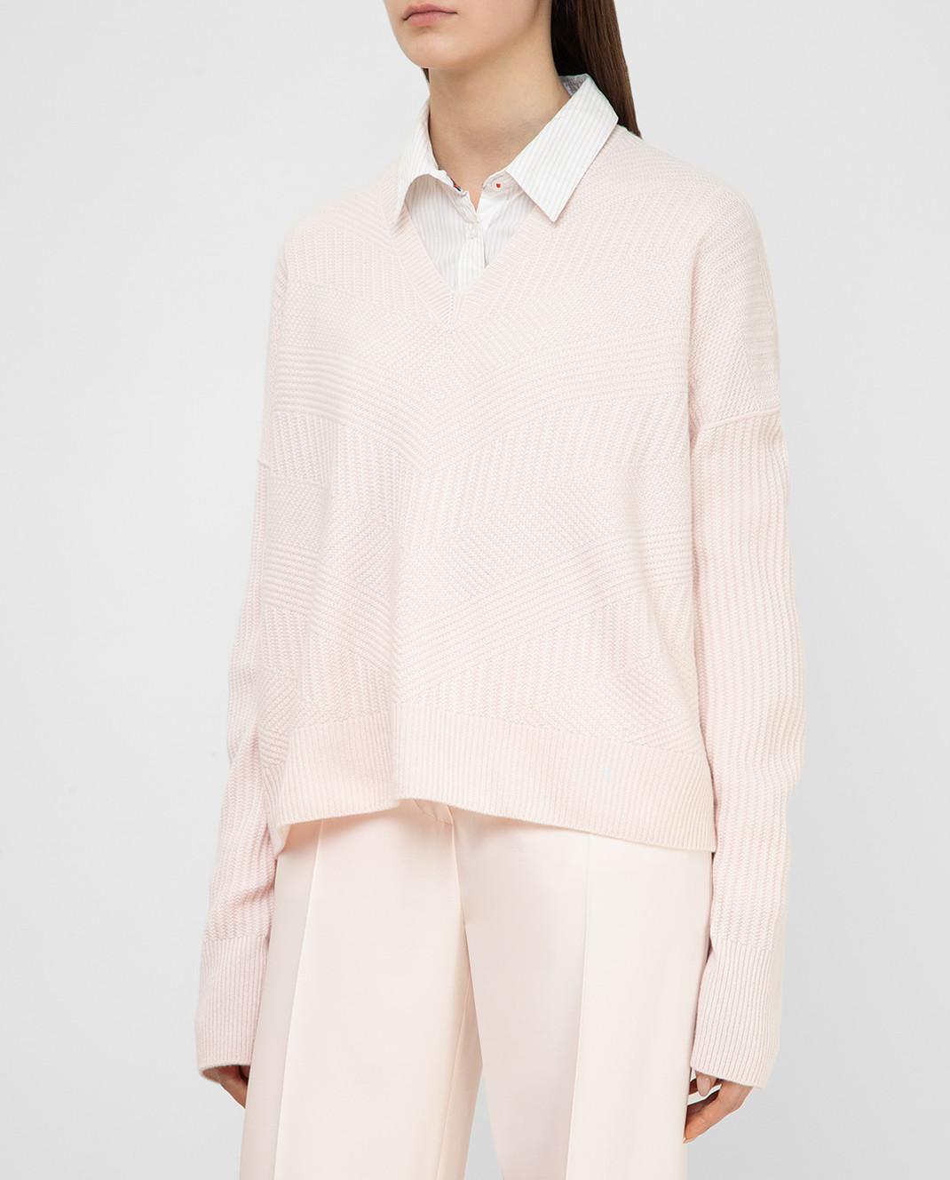 Loro Piana Розовый пуловер из кашемира F2FAI6038 изображение 3